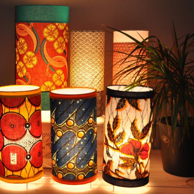 Atelier - création d'une lampe d'appoint en tissus