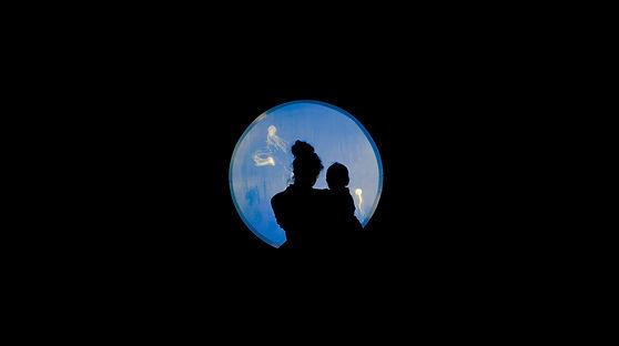 Mother and son, Jellyfish, Eric Bondoc, Aquarium