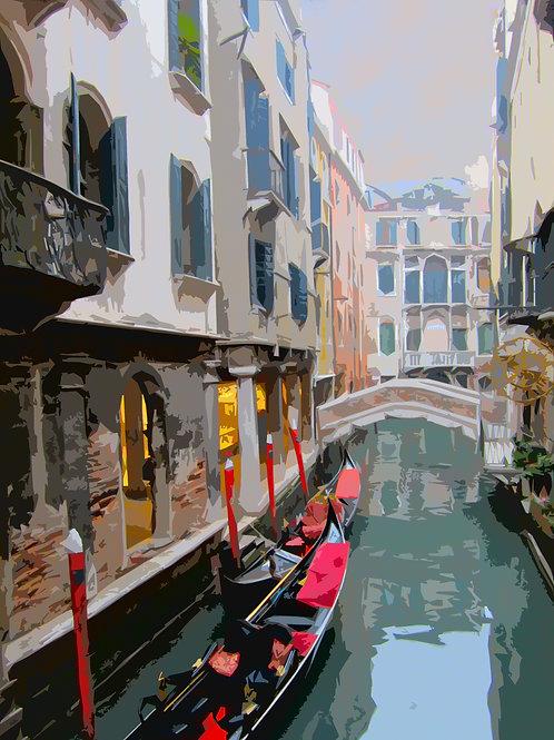 Venice Lagoon on Canvas