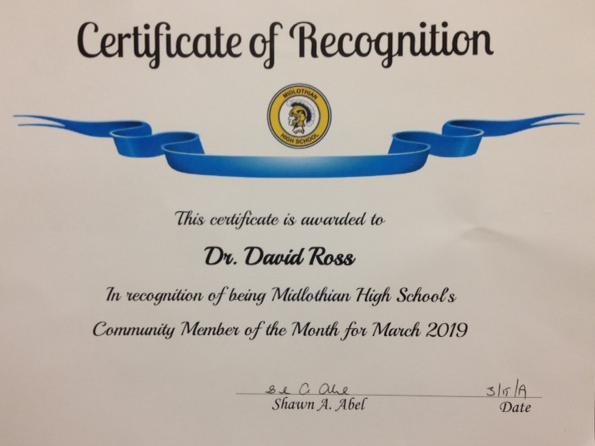 Dr. Ross Midlothian Award.PNG