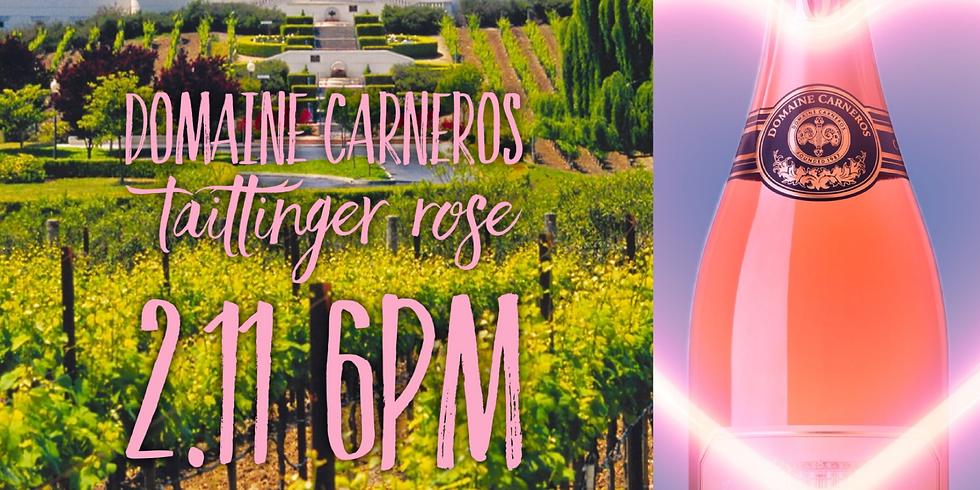 Domaine Carneros Taittinger Rose bottle tasting