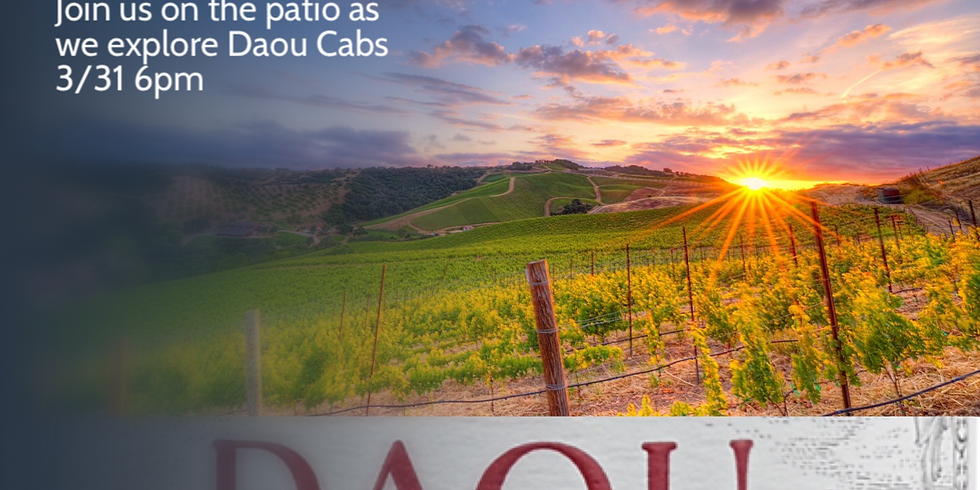 DAOU on site tasting event 3.31.21