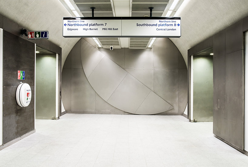 Knut Henrik Henriksen, Full Circle, Art on the Underground, London, Kings Cross Station, Architectural Doubt, Architectural Frustrations