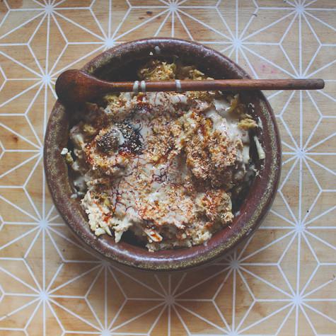 Havermout ontbijtje met fruit en toppings