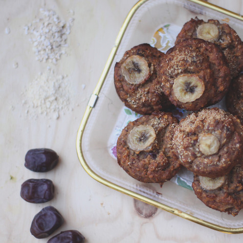 Banana-muffins van kikkererwtenmeel