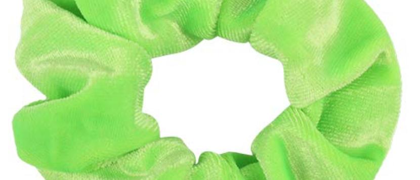 Green Velvet Scrunchie