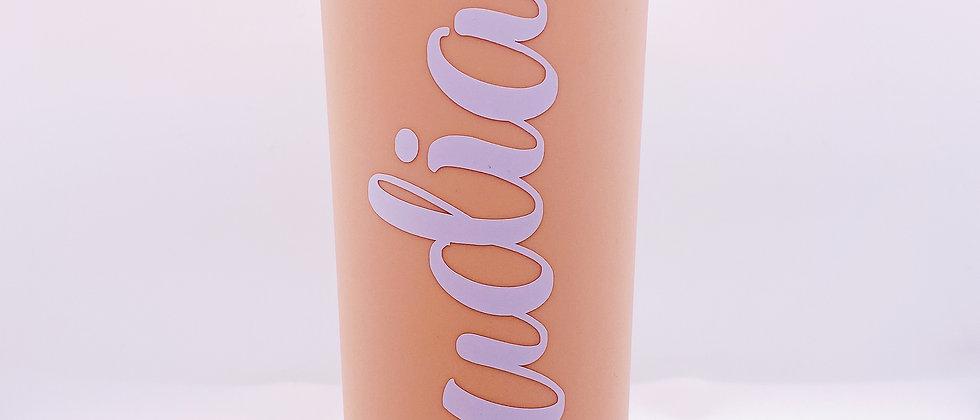 Peach 18oz Skinny Acrylic Tumbler w/Straw