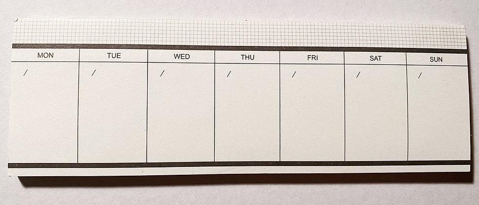 Weekly Desk Calendar