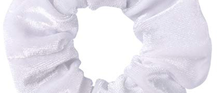 White Velvet Scrunchie