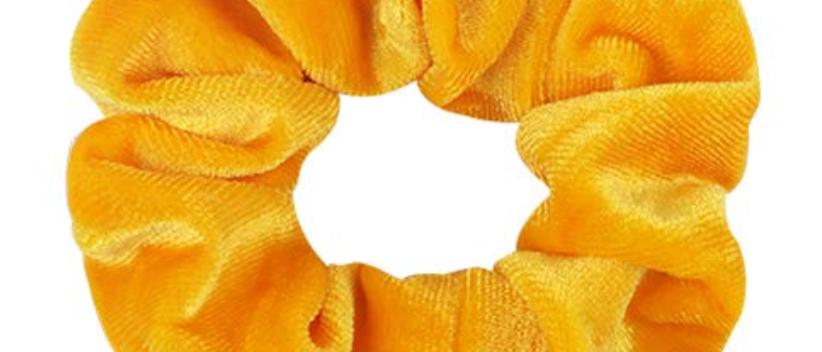 Yellow Velvet Scrunchie