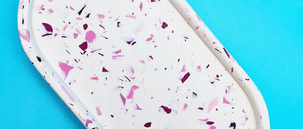 Pink Speckle Soap Dish / Trinket Tray