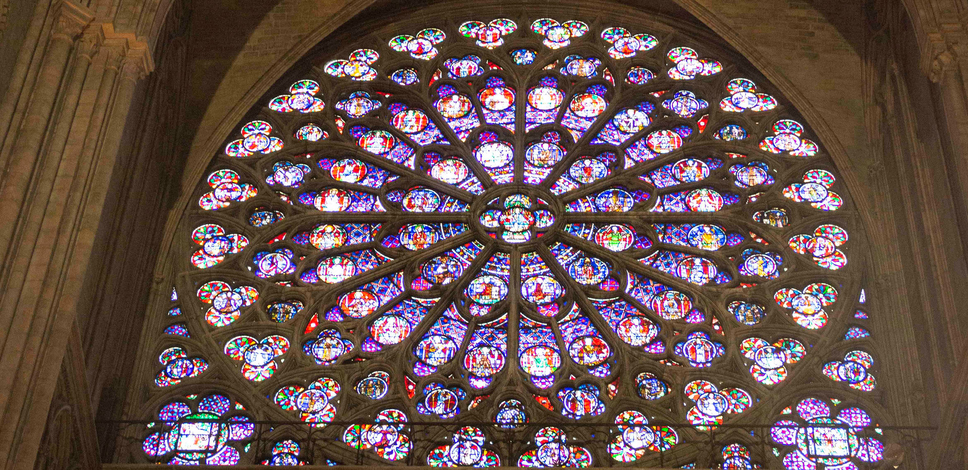 Rose window interior