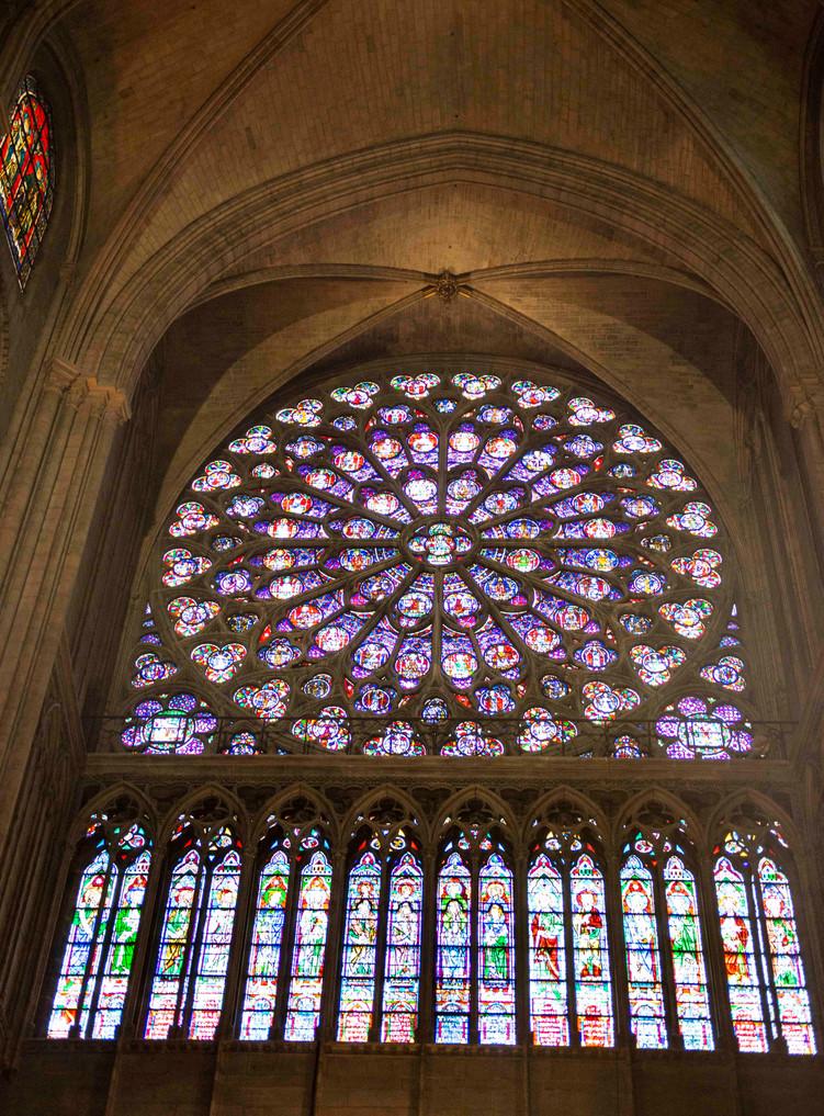Rose window interior