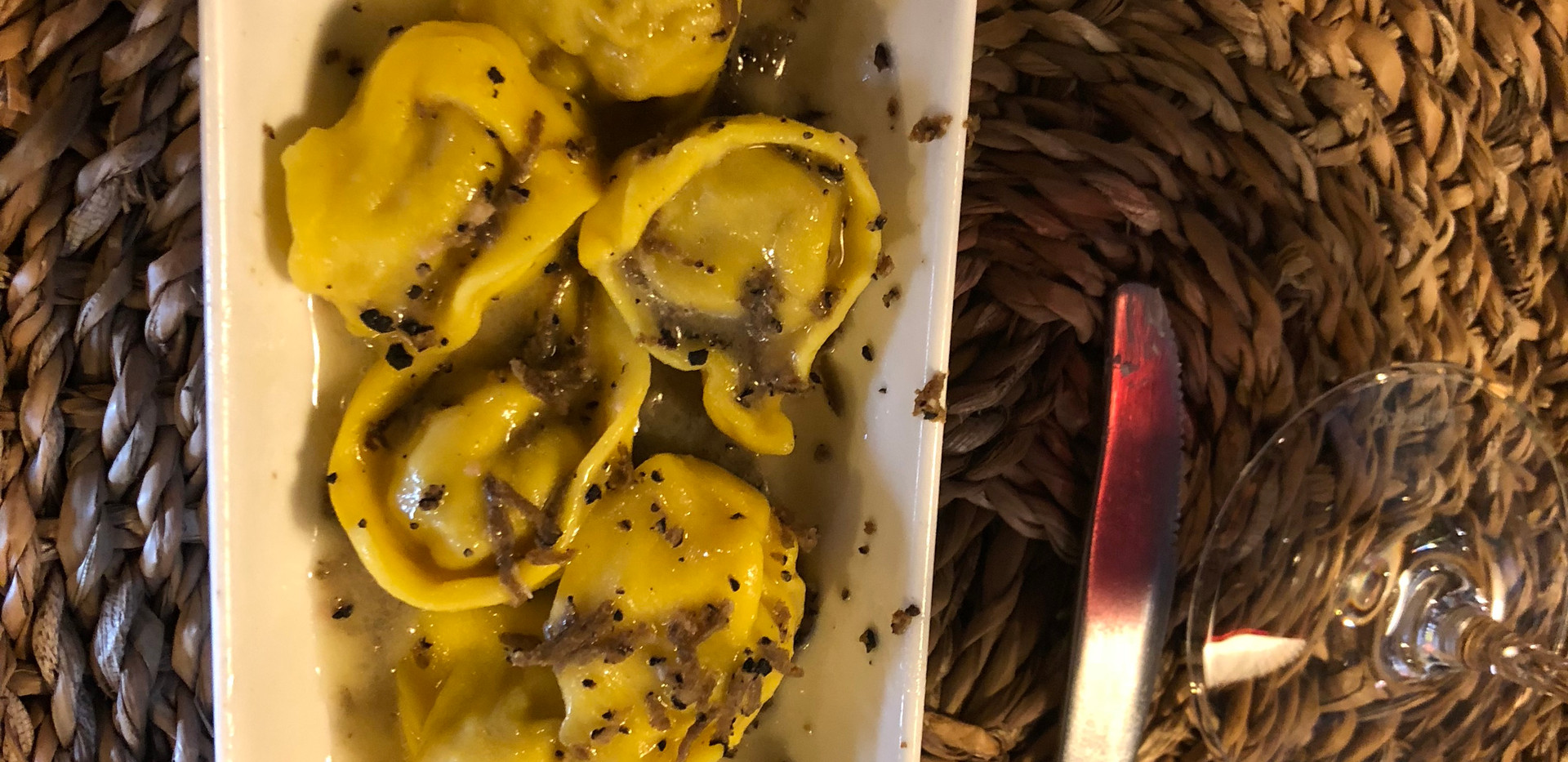 Meat stuffed Cappelletti with truffle at Ristorante Lillotatini - Panacale