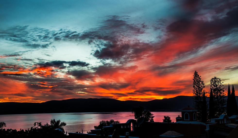 Sunset over Lake Chapala