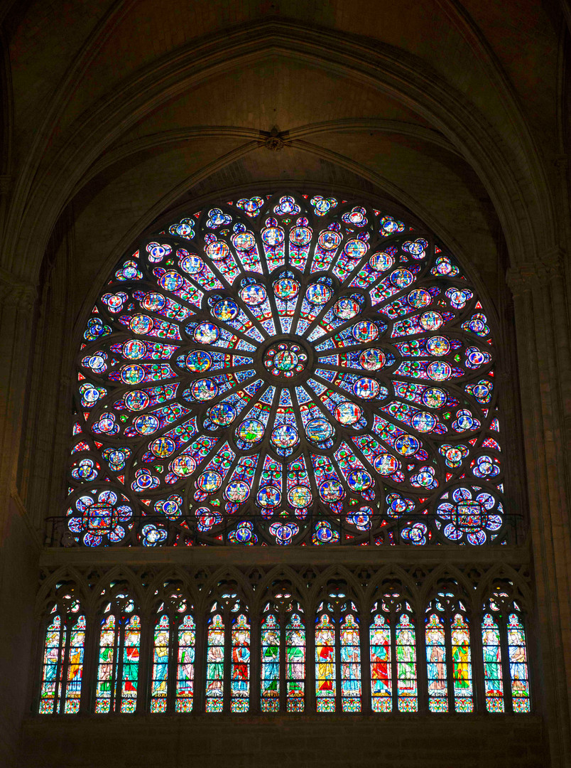 Notre Dame Rose Window - south
