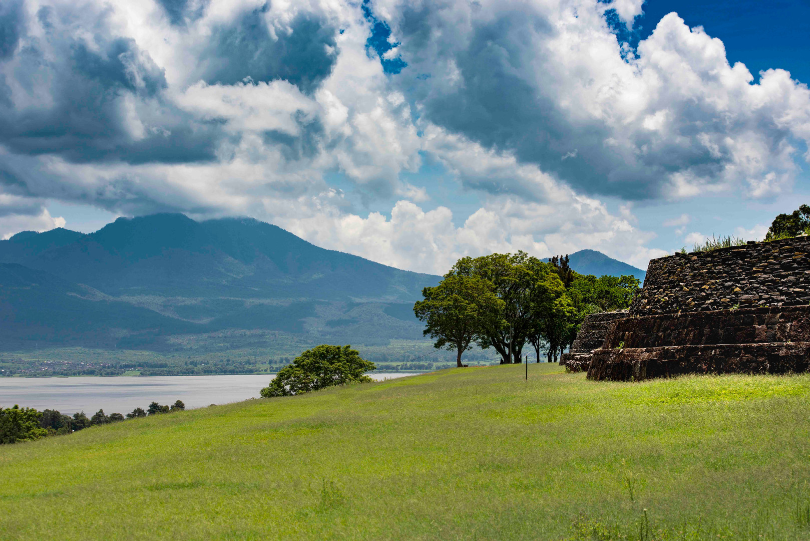 Lake Patzcuaro from above Tzintzuntzán