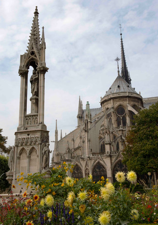 Notre Dame gardens - and flying buttresses!