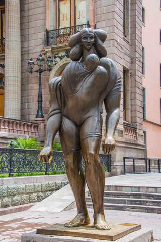 Statue near Teatro Juarez