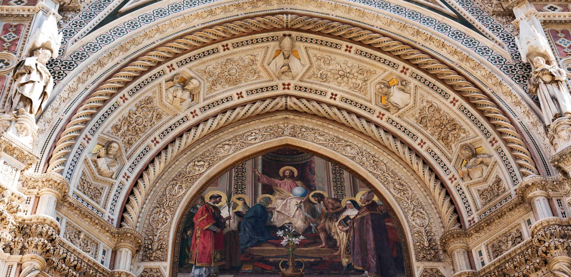Florence Duomo entrance arch