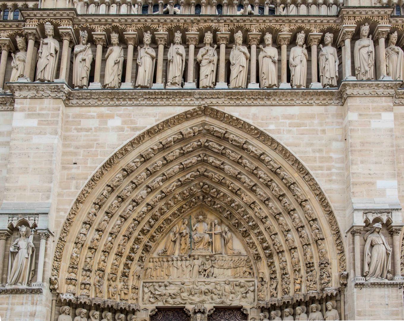Notre Dame entrance arch