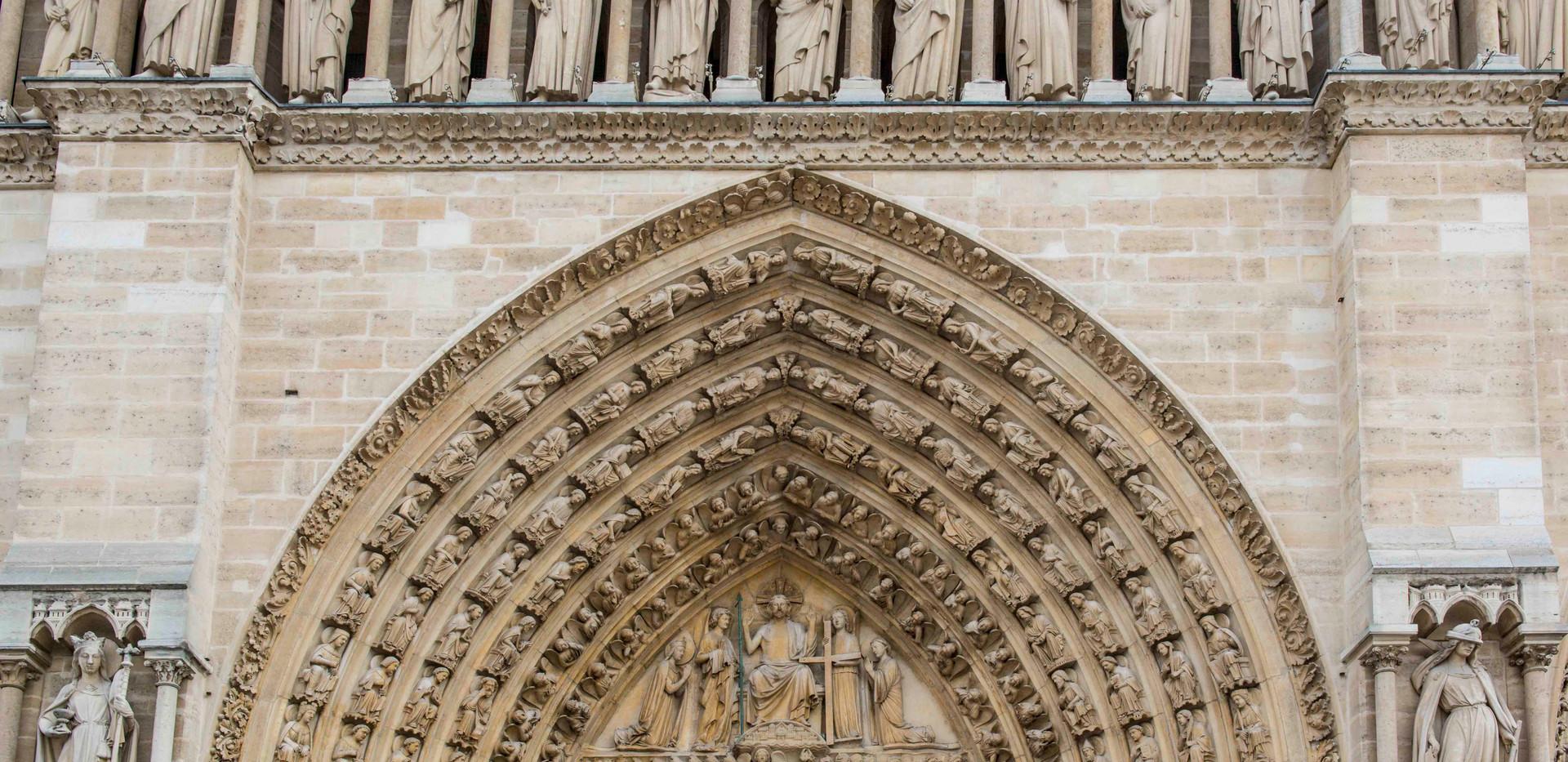 Notre Dame Main Entrance Arch