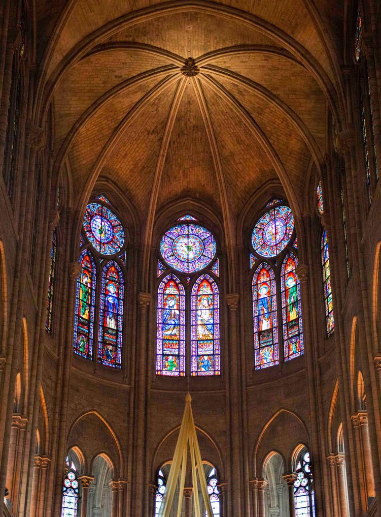 Altar arch& windows