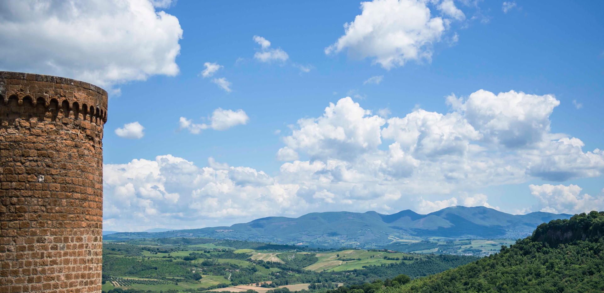 Umbrian panorama from Orvieto