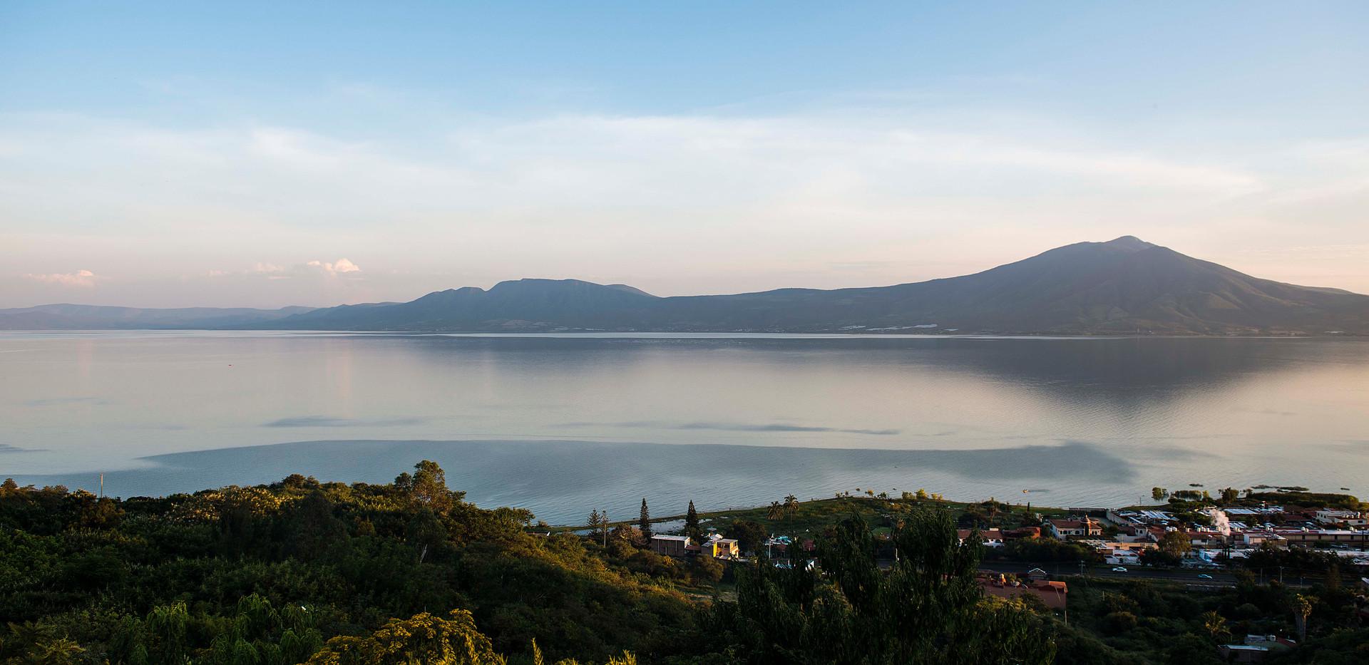 Lake Chapala from above San Juan Cosala