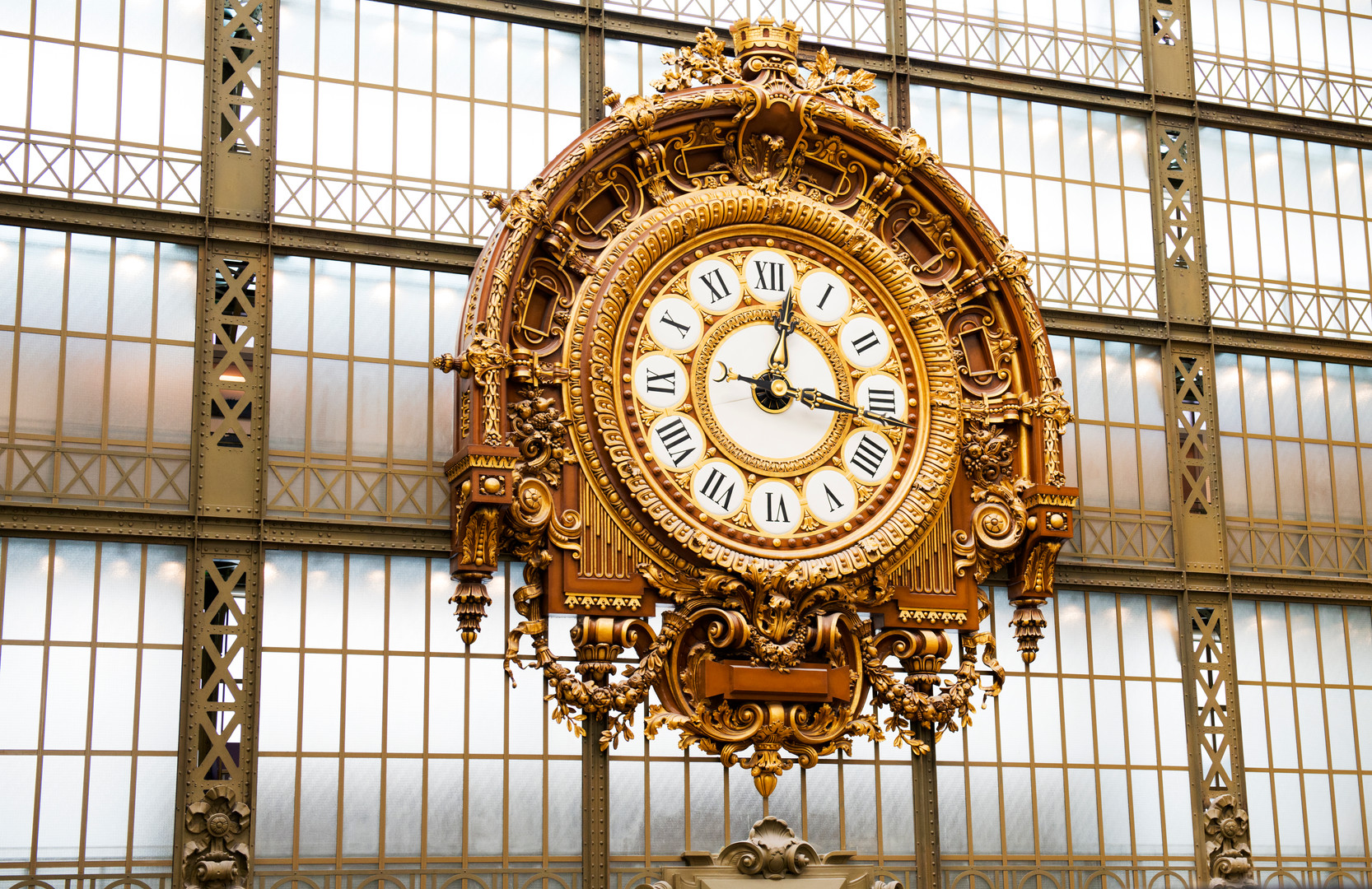 the clock in Musée d'Orsay