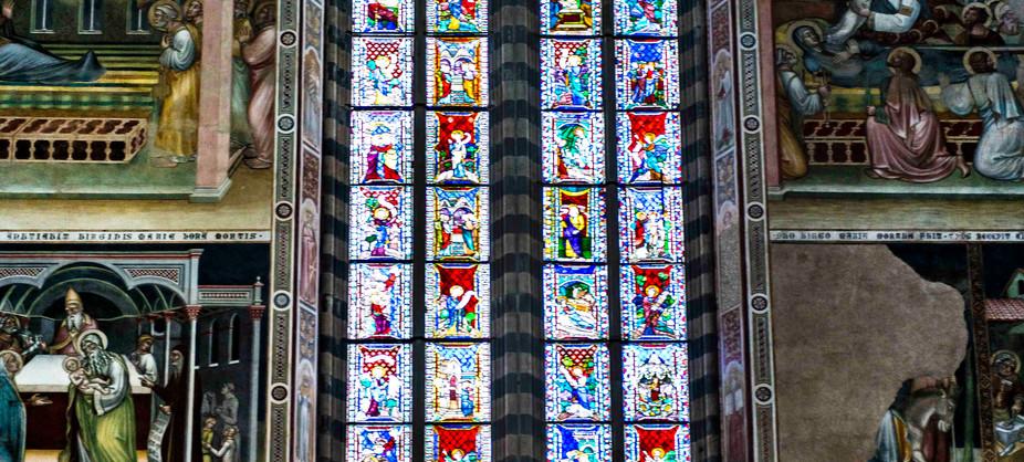 Orvieto Duomo  alter window