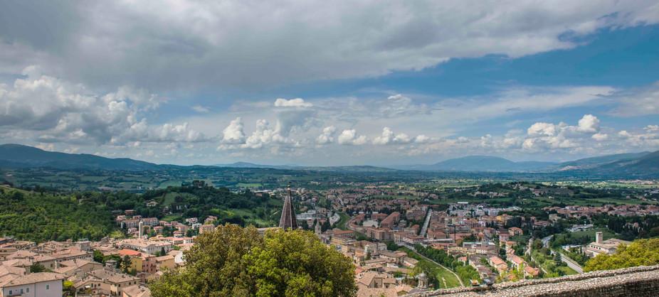 Spoleto castle overlook