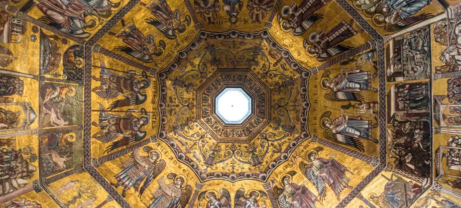 the ceiling - St John's baptistry