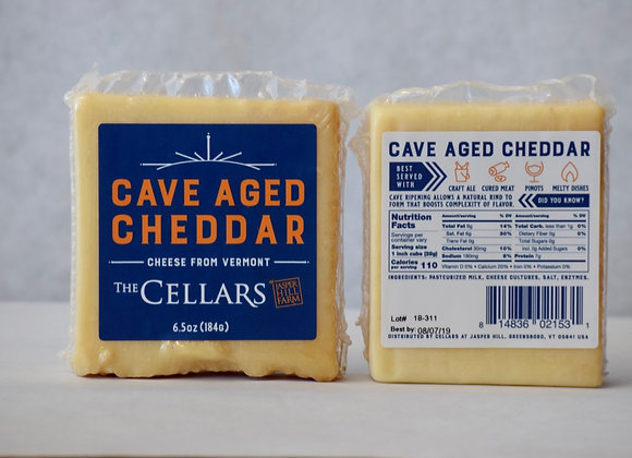 Cave Aged White Cheddar Cheese Retail Cut