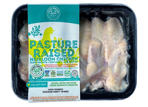 Chicken Wings Split Heirloom Cooks Venture 1lb Tray Pack
