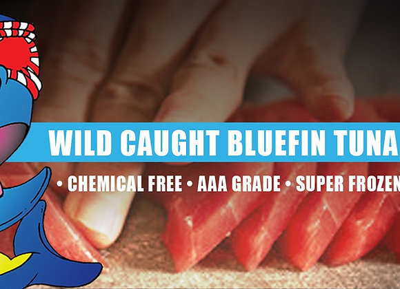 Wild Bluefin Tuna Saku Block - Sushi Grade Retail