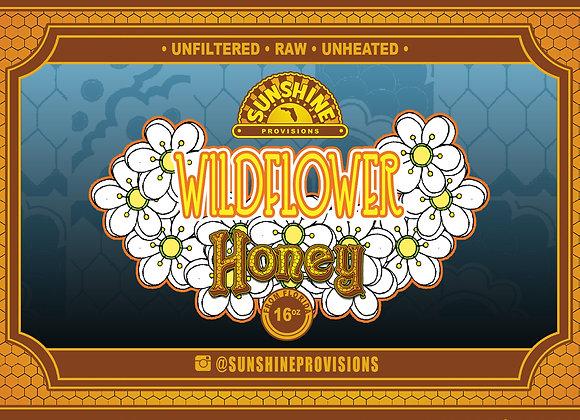 Florida Wildflower Honey 16oz Sunshine State