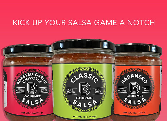 3 Pack Sampler of DB Gourmet Salsa