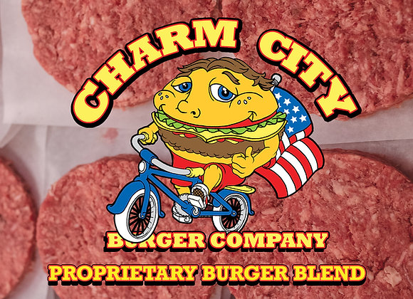 Charm City Burger Company Proprietary Blend Burgers
