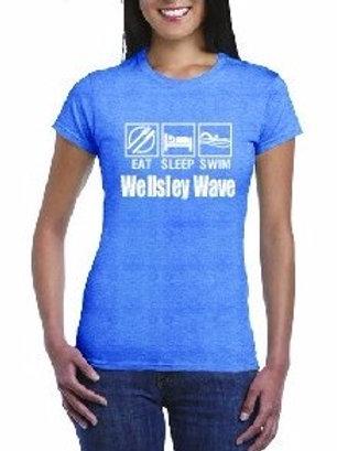 2017 Wellsley Wave Ladies T-shirt
