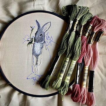 bunny and threads.JPG