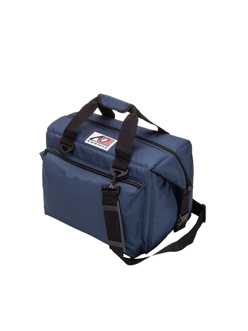 24 Pack Deluxe Canvas Cooler (Navy Blue)