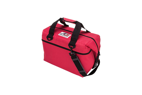 24 Pack Canvas Cooler (Red)