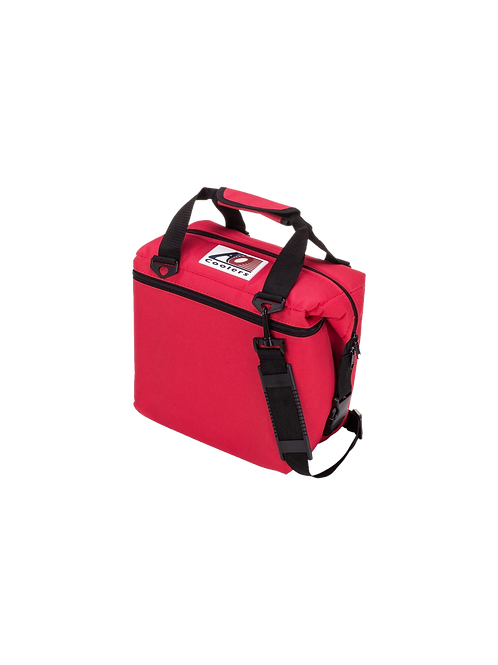 12 Pack Canvas Cooler (Red)