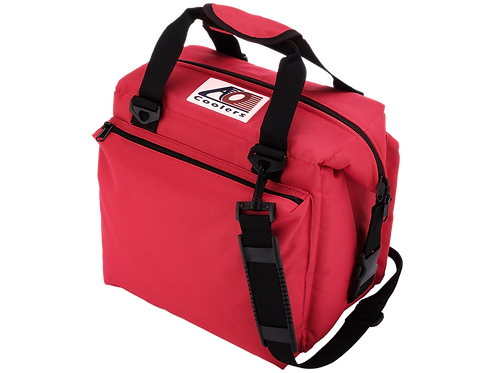 12 Pack Deluxe Canvas Cooler (Red)
