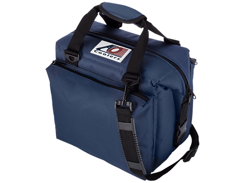12 Pack Deluxe Canvas Cooler (Navy)