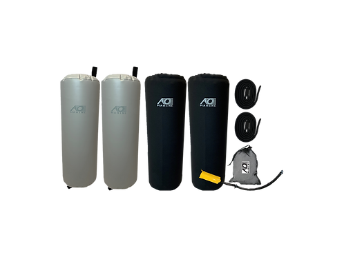 """Inflatable Fender Kit, 10""""x32"""", Two Pack with Neoprene Cover"""