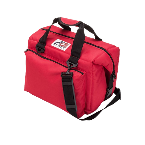 24 Pack Deluxe Canvas Cooler (Red)