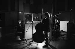 Band in the studio