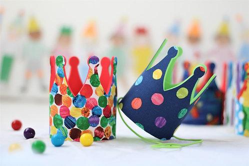 Polka Dot Caterpillar Party Hat